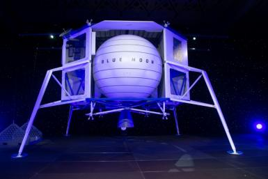 "Blue Origin, as prime contractor, would provide the ""descent element"" vehicle based on its Blue Moon lunar lander that it announced in May"