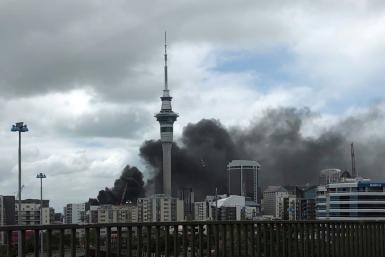 Office workers were warned to stay inside and turn off air conditioning as a thick pall of smoke engulfed the centre of New Zealand's largest city