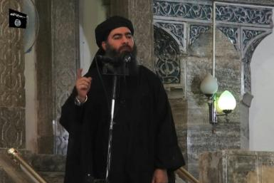 "Abu Bakr al-Baghdadi declared himself ""caliph"" of the Islamic State group's sprawling territory in Syria and Iraq in 2014"