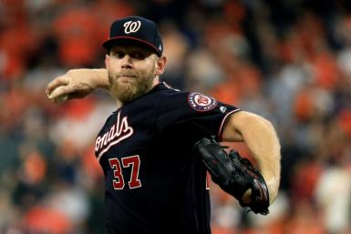 Washington's Stephen Strasburg allowed only two runs on five hits over 8 1/3 innings as the Nationals beat Houston 7-2 to force a seventh and deciding game of the World Series on Wednesday
