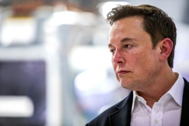 "Elon Musk, pictured on October 10, posted on Twitter that he is ""going offline"""
