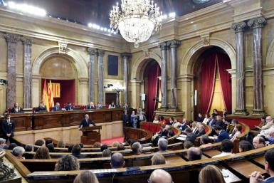 Rebel house: the Catalan regional parliament is dominated by pro-independence MPs