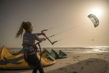 Dakhla, a former garrison town in the heart of disputed Western Sahara, has become popular with kitesurfers of all nationalities