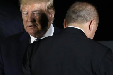 US President Donald Trump and Turkey's president Recep Tayyip Erdogan may no longer see eye to eye