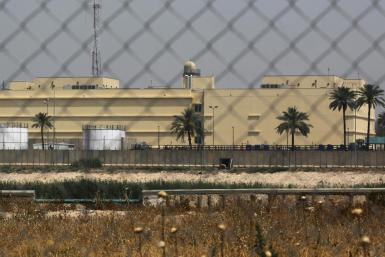 The US embassy compound in Baghdad's Green Zone