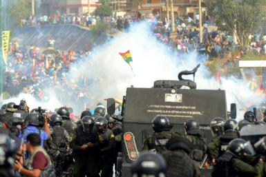 There have been frequent clashes between supporters of ex President Evo Morales and Bolivian riot police