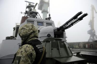Two Ukrainian navy gunboats and a tugboat were seized in November 2018 in the Kerch Strait
