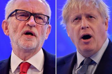 British Labour leader Jeremy Corbyn and Prime Minister Boris Johnson both sought to woo business leaders ahead of the general election in December
