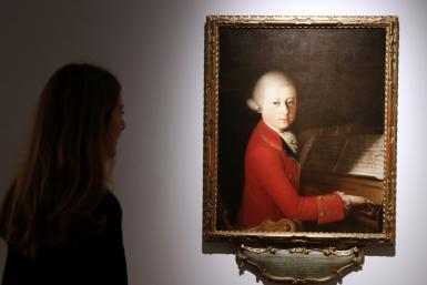 Christie's is to sell a portrait of Mozart painted when he was 13 at an auction next week