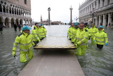 Forecasters expect a welcome improvement in water levels in Venice over the coming days, allowing residents to assess damage the mayor has already put at over a billion euros