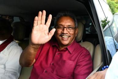Gotabaya Rajapaksa, 70, won in a landslide at Saturday's presidential polls