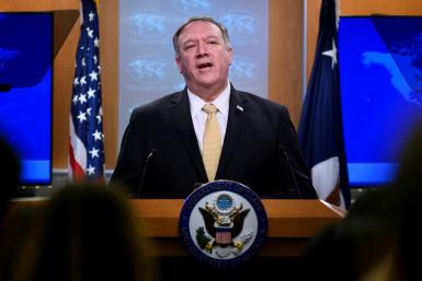 US Secretary of State Mike Pompeo announces a change of policy on Israeli settlements