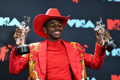 US rapper Lil Nas X -- posing with the Song of the Year Award at the 2019 MTV Video Music Awards in August 2019 -- is up for six Grammys
