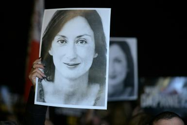 Journalist Daphne Caruana Galizia was blown up in a car bombing in 2017