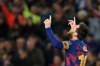 Lionel Messi scored on his 700th appearance for Barcelona on Wednesday in a 3-1 win over Borussia Dortmund.