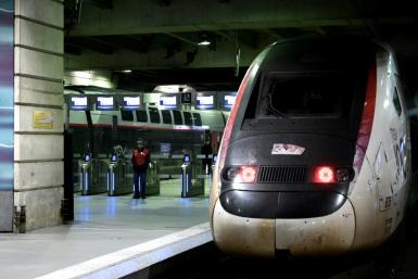 Around 90 percent of high-speed TGV trains as well as regional lines were cancelled