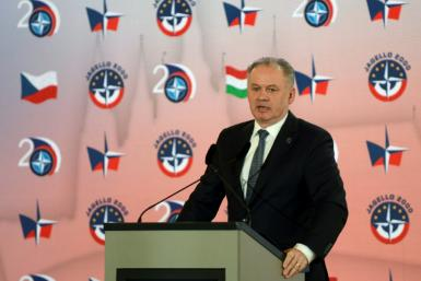 Slovakian former president Andrej Kiska (pictured March 2019) has been charged with tax fraud stemming from his successful 2014 presidential run, when he allegedly misused funds from one of his companies