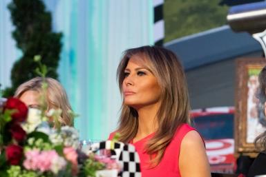 First Lady Melania Trump Attends the Congressional Spouses Luncheon