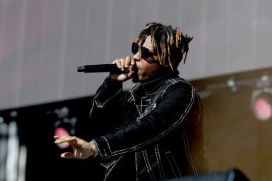 Juice Wrld performs at a music festival in Las Vegas in September 2019 -- the rapper has died at the age of 21