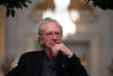 """Austrian writer Peter Handke, Nobel Prize Literature laureate 2019, was accused of minimising Serb war crimes in his book """"A Journey to the Rivers: Justice for Serbia"""""""