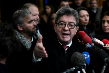Jean-Luc Melenchon was convicted Monday for shoving a police officer during a search of his party's offices last year.