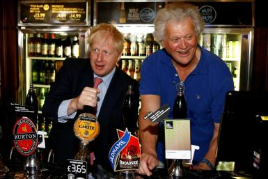 JD Wetherspoon chairman Tim Martin, seen here with Prime Minister Boris Johnson, is a strong Brexit supporter