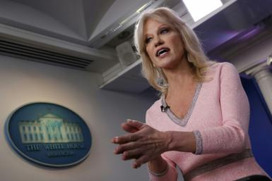 "President Donald Trump's senior aide Kellyanne Conway coined the term ""alternative facts"""