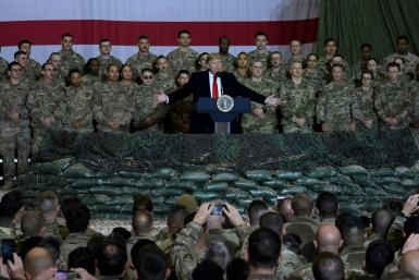 US President Donald Trump made a surprise visit to Bagram airbase in Afghanistan last month and insisted a ceasefire with the Taliban was needed