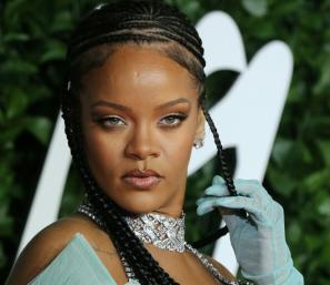 Barbadian singer Rihanna -- seen in December 2019 in London -- is rocking the charts and the fashion world