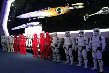 """The final film in the epic """"Star Wars"""" trilogy of trilogies brought Hollywood to a standstill, as a galaxy of VIPs from the space saga that began four decades ago descended on a glittering world premiere."""
