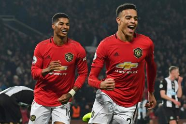 Mason Greenwood (right) and Marcus Rashford (left) both scored in Manchester United's 4-1 win over Newcastle