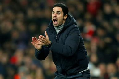 Third time lucky: Mikel Arteta won his first game as Arsenal manager at the third time of asking