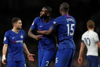 Chelsea defender Antonio Rudiger (centre) believed he was the victim of racist chanting during his side's 2-0 win at Tottenham last month