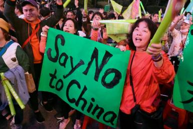 Supporters of Taiwan's President Tsai Ing-wen from the ruling Democratic Progressive Party (DPP) want the island to resist pressure from China
