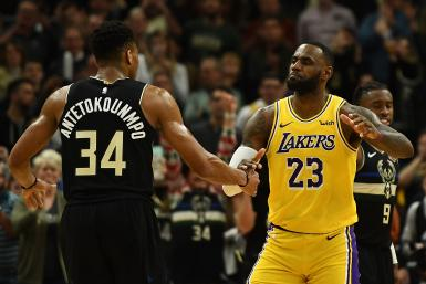 Giannis Antetokounmpo LeBron James Bucks Lakers