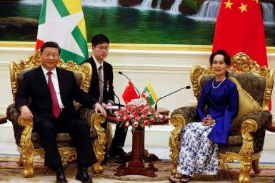 Chinese Presdient Xi Jinping called the visit a 'historical moment' for relations between the two neighbours