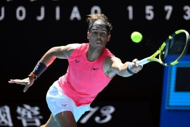 Spain's Rafael Nadal beat Bolivia's Hugo Dellien in the first round