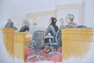 Huawei chief financial officer Meng Wanzhou at her extradition hearing in Vancouver