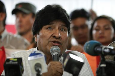 Bolivian ex-president Evo Morales, pictured in Argentina on January 19, 2020, said he hopes for a clean presidential race
