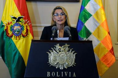 Bolivia's interim president Jeanine Anez (pictured November 2019) originally said she had no intention of running for president but has since changed her mind