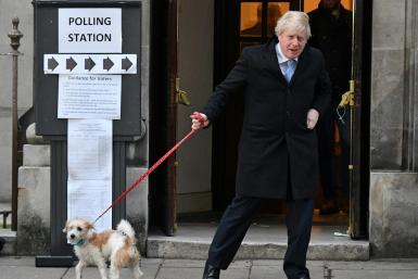 British Prime Minister Boris Johnson wants to avoid public triumphalism. He faces a raft of challenges in the months ahead.