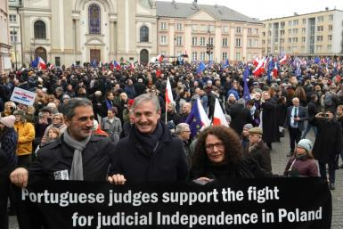 Earlier this month, hundreds of Polish judges were joined by colleagues from several European countries in a march in Warsaw to protest the changes