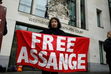 The revelation came at a case management hearing at Westminster Magistrates' Court before Monday's formal start of Washington's extradition request for him to face espionage charges