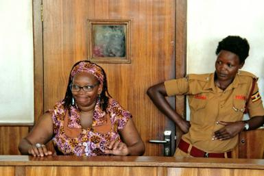 Nyanzi, pictured in April 2017 at her trial for cyber-harassment