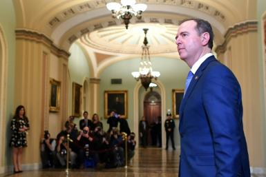 House intelligence chief Representative Adam Schiff, whose appearance at a classified briefing on election meddling reportedly enraged President Donald Trump