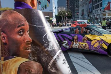 "Fans arrive to attend the ""Celebration of Life for Kobe and Gianna Bryant"" service at Staples Center in Downtown Los Angeles on February 24, 2020"