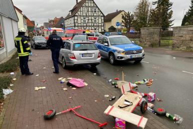 Police in the Germany town of Volkmarsen said it was too soon to say whether it was a deliberate act