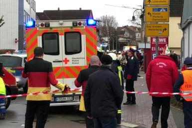 Several dozen people, including children were injured Monday when a car drove into a carnival procession in central Germany, police said