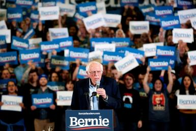 Democratic presidential hopeful Vermont Senator Bernie Sanders is in pole position heading into South Carolina's Democratic primary