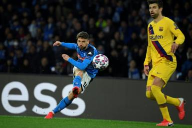 Dries Mertens became Napoli's joint top all-time scorer with his 121st goal for the club